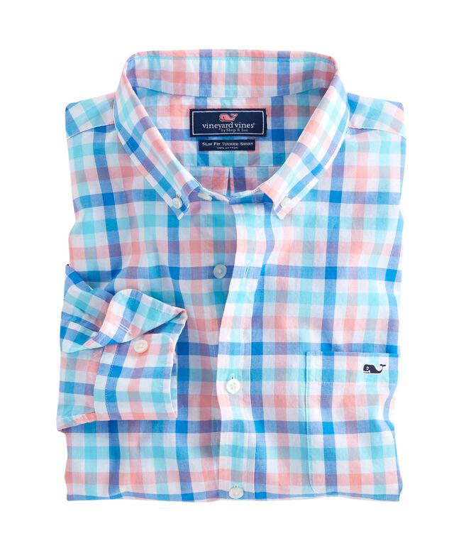 Barnes Bay Check Slim Tucker Shirt