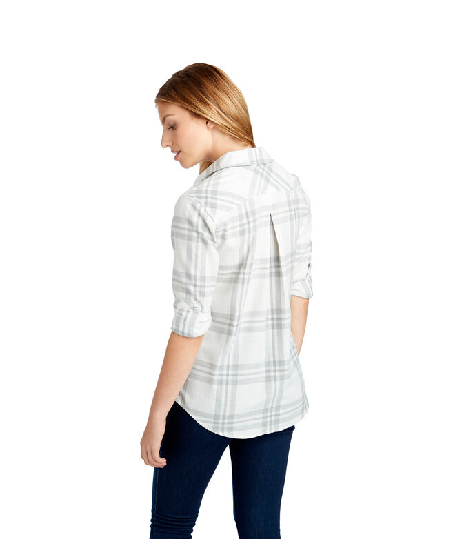 876d0bc5 Ice Plaid Performance Flannel Chilmark Relaxed Button Down