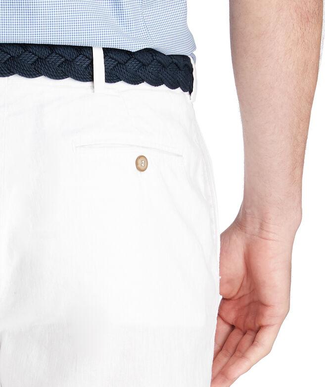 9 Inch Cotton Linen Greenwich Breaker Shorts