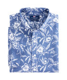 Short-Sleeve Aquatic Hibiscus Slim Murray Shirt