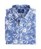 Short-Sleeve Aquatic Hibiscus Slim Murray Shirt