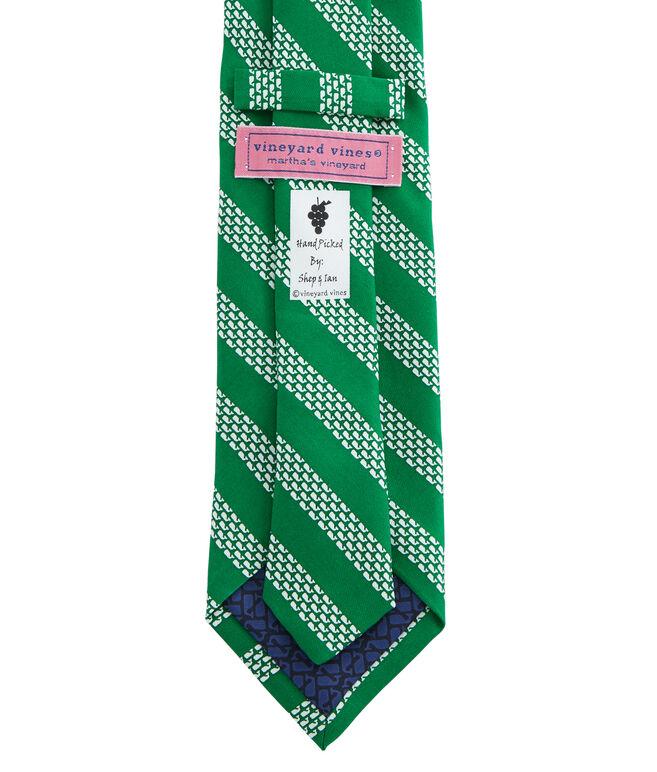 Whale Rep Stripe Tie