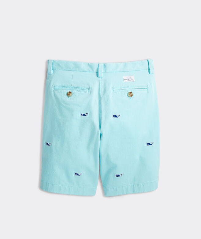 Boys' Whale Embroidered Stretch Breaker Shorts