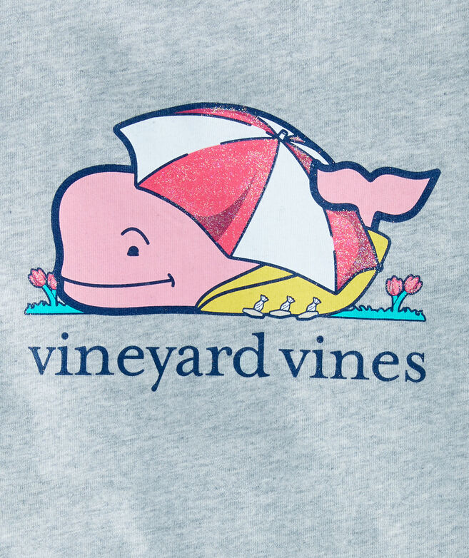 Girls April Showers Whale Pocket Tee