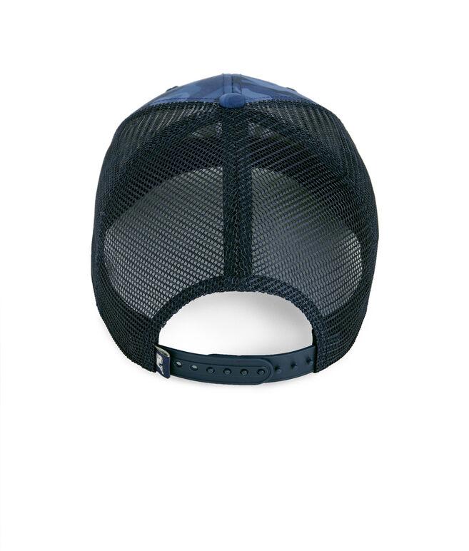 High Profile Flat Brim Camo Trucker Hat
