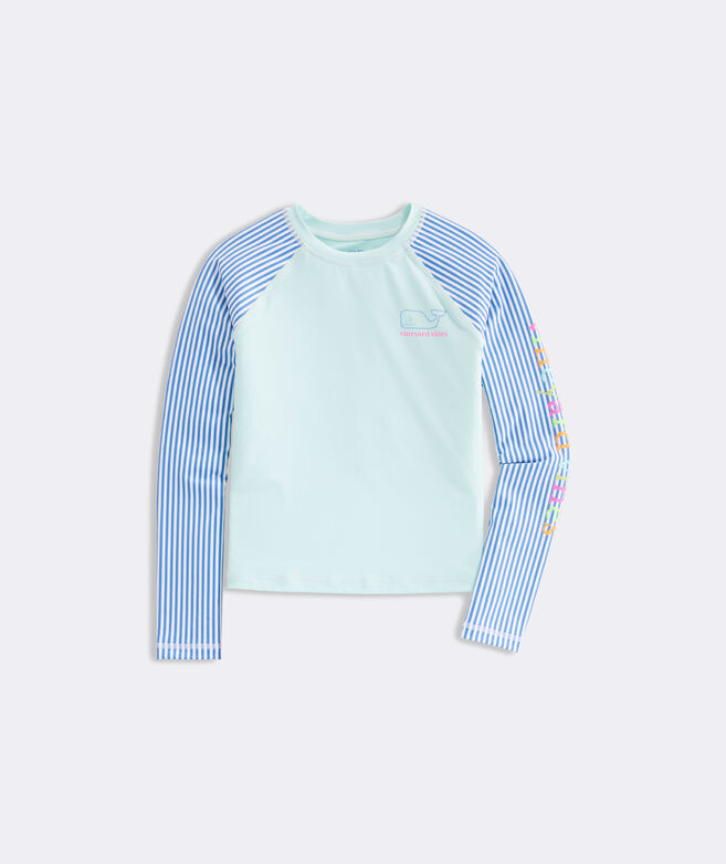 Girls' Color-Blocked Rashguard