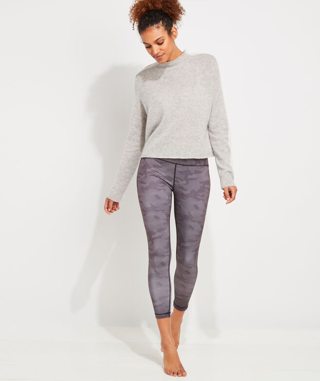 Lofty Tonal Stripe Cashmere Mockneck Sweater