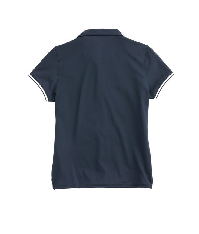 Womens Solid Pique Polo