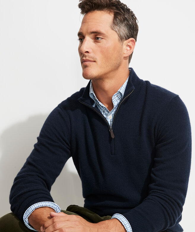 Yachtsman's 1/4-Zip Cashmere Sweater