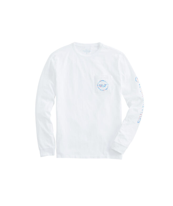 Long-Sleeve Tuna & Starfish Whale Dot Pocket T-Shirt