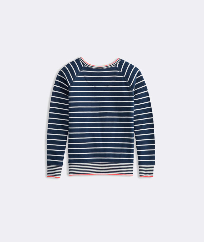 Girls' Striped Dreamcloth Crewneck Pullover