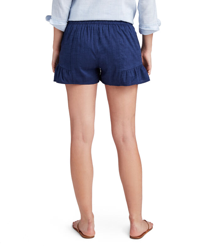 Flounce Pull-On Shorts