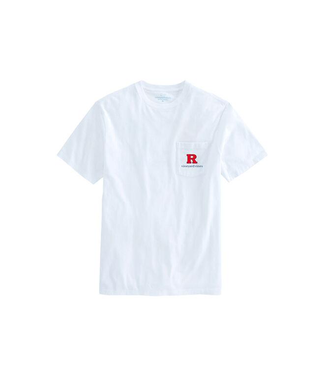 Rutgers University Whale Helmet Pocket T-Shirt