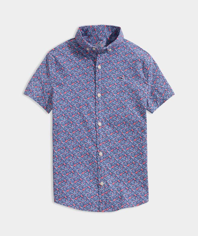 Boys' Printed Short-Sleeve Shirt