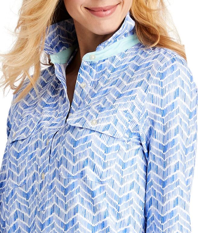 UPF Linear Whale Tail Shirt Dress