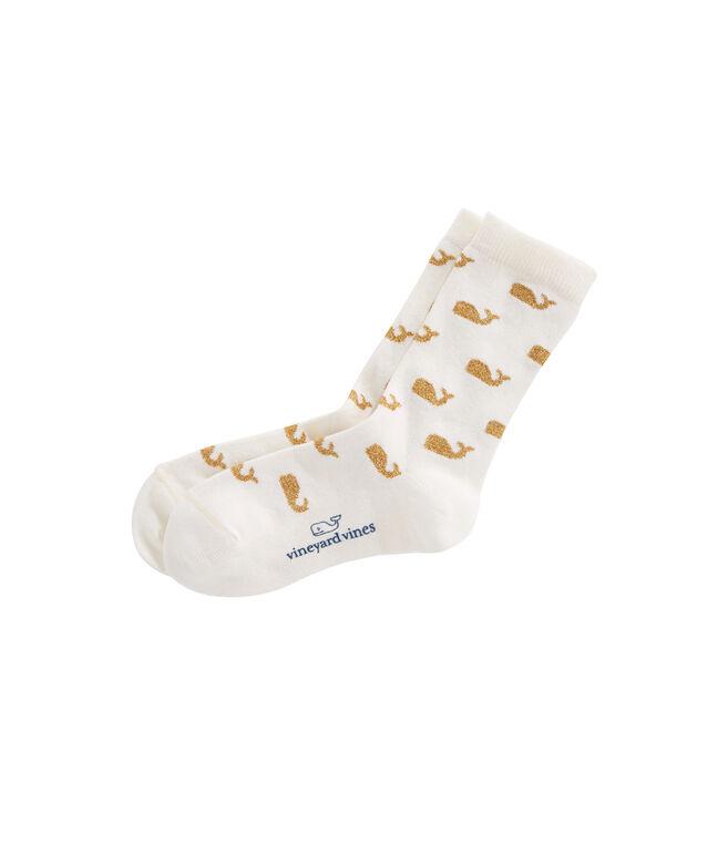 Girls Sparkle Whale Socks