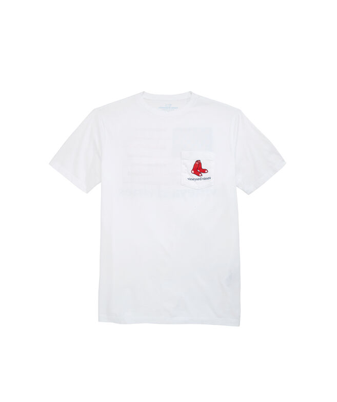 Boston Red Sox Equipment  Flag Pocket Tee
