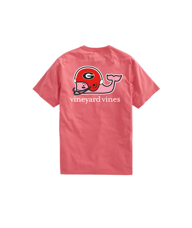 check out c464f 1dc6f University of Georgia Whale Helmet T-Shirt
