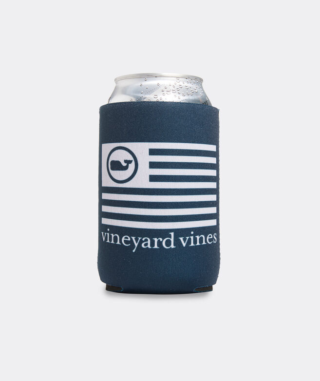 Whale Dot Flag Coozie