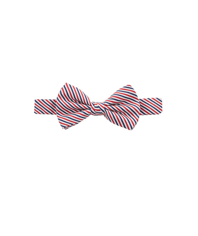 Boys Seersucker Stripe Bow Tie