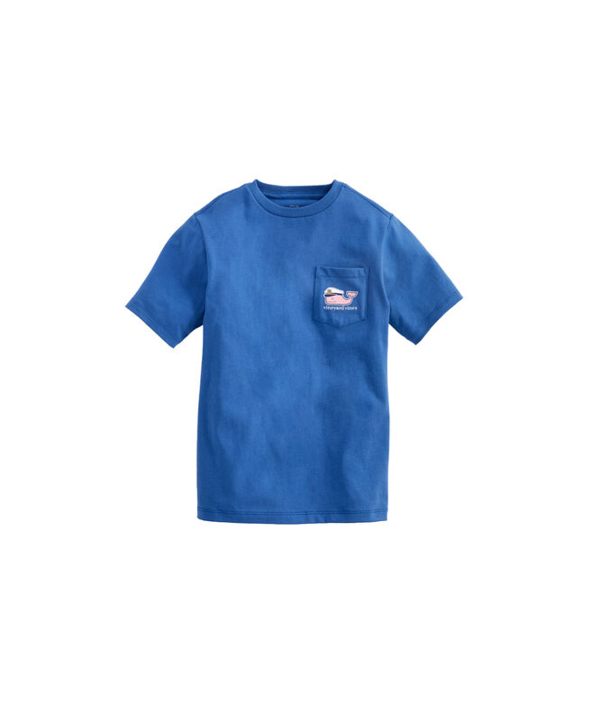 Boys Lobster Bake Whale Pocket T-Shirt