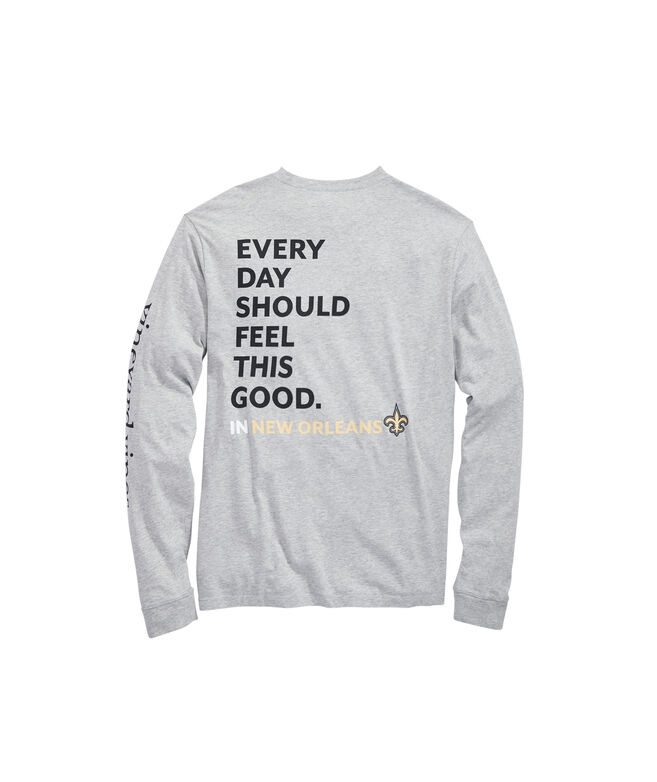 New Orleans Saints Long-Sleeve EDSFTG T-Shirt