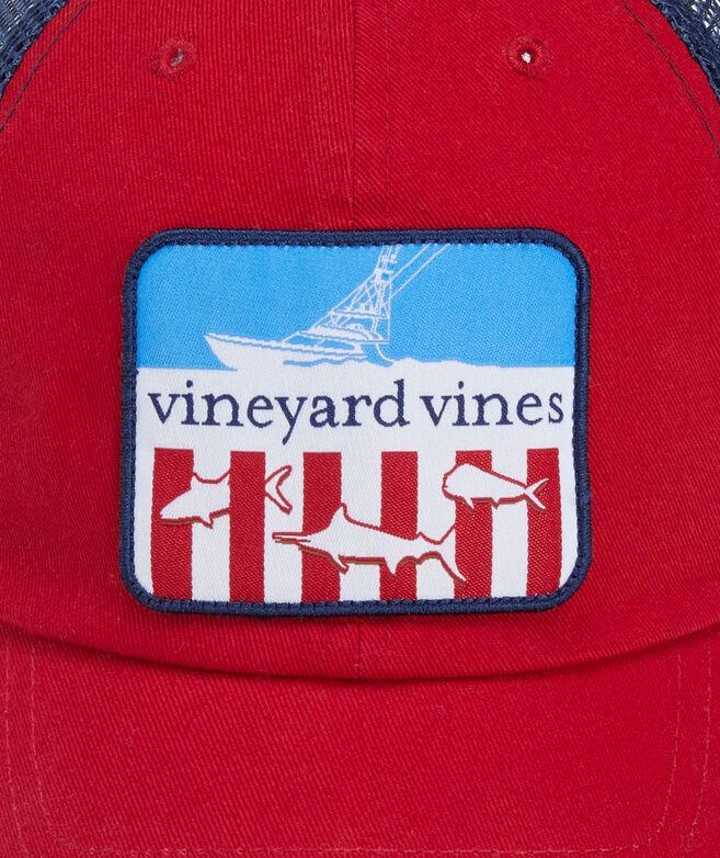 Fishing Flag Patch Trucker Hat