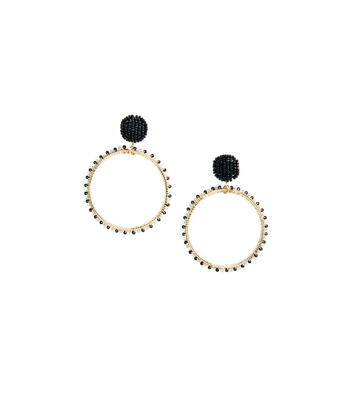Seed Bead Hoop Earrings