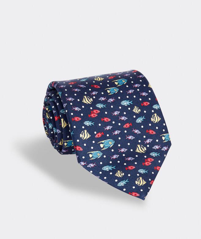 Bahamian Fish Printed Tie