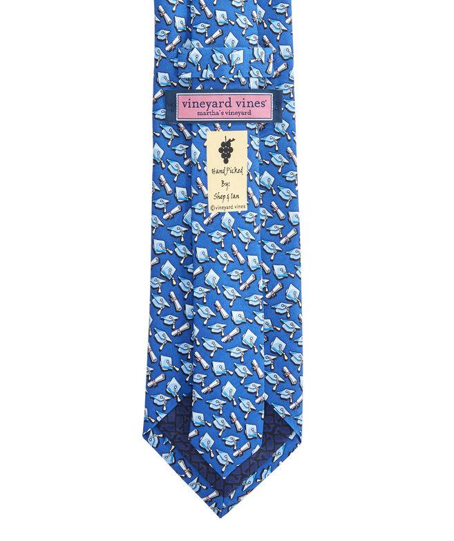 Extra Long Graduation Cap Printed Tie