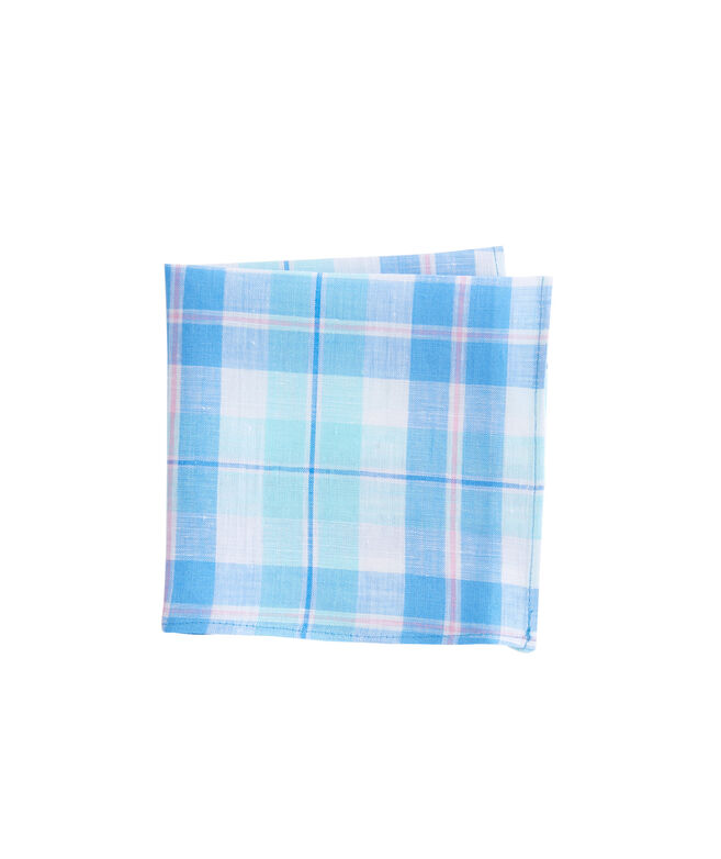 Upper Bluff Plaid Pocket Square