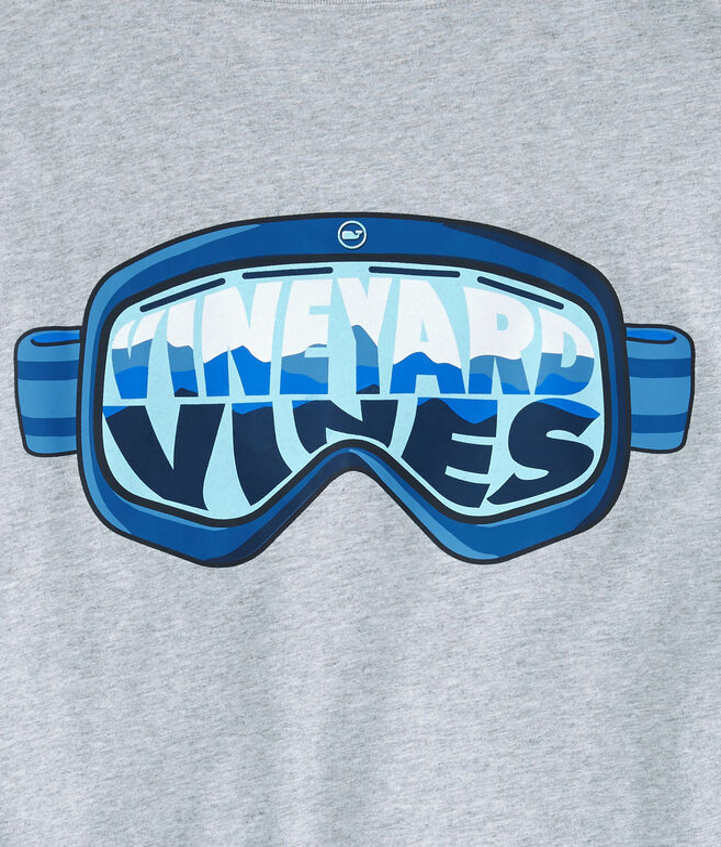 Long-Sleeve Ski Goggles Pocket T-Shirt