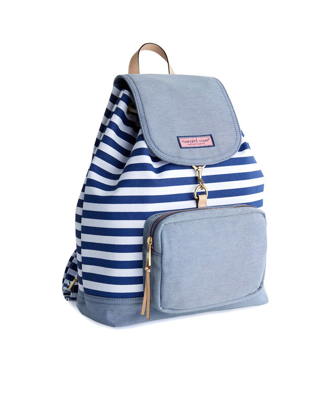 d6d4dccb4a2 Striped Canvas Oxford Day Pack