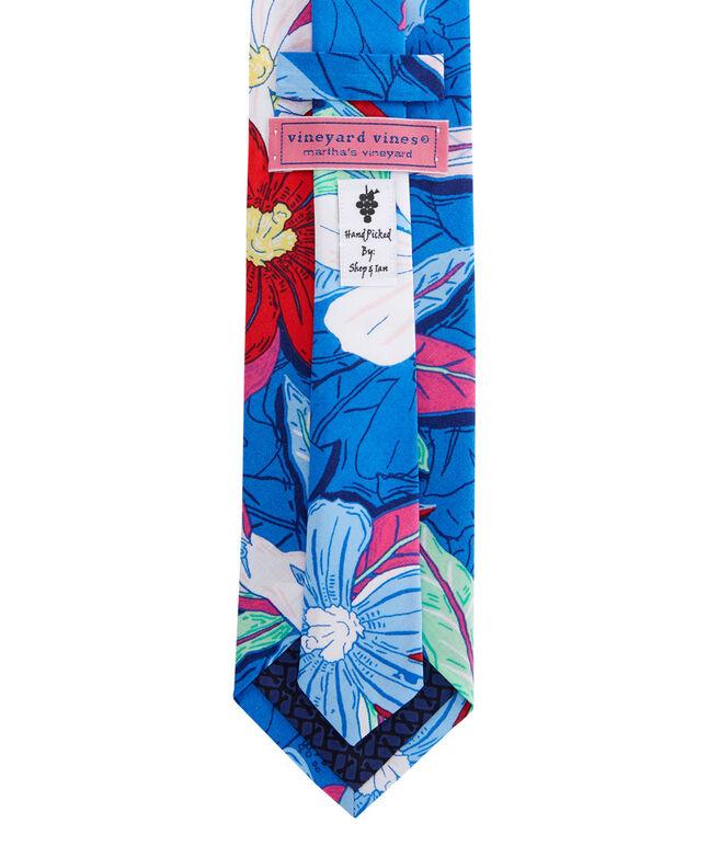 Beach Flora Woven Tie