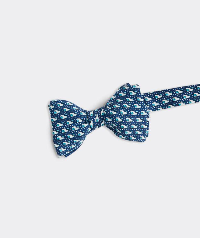 Yeti Whale Printed Bow Tie