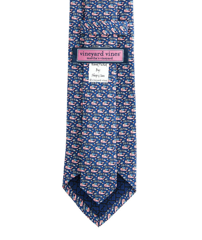 Boys New Graduation Whale Printed Tie