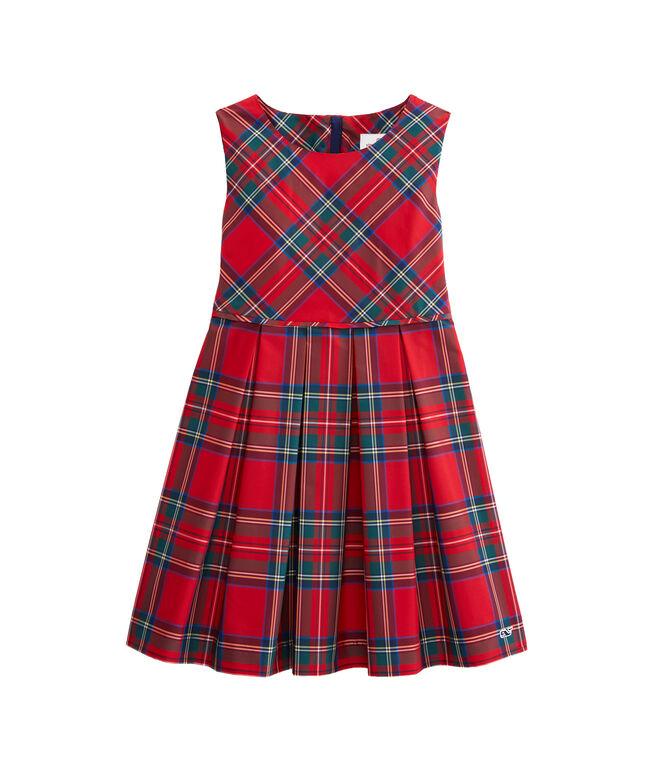 Girls Jolly Plaid Party Dress