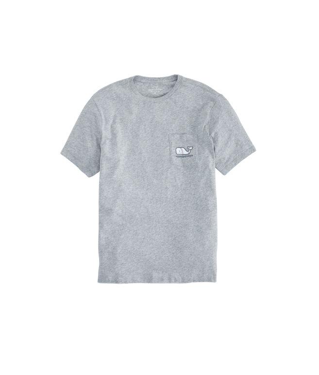 Baseball Whale Pocket T-Shirt