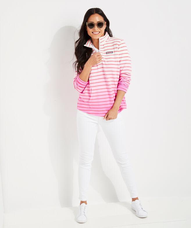 Dip-Dyed Stripe Relaxed Shep Shirt