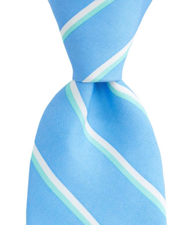 Boys Collegiate Stripe Printed Tie