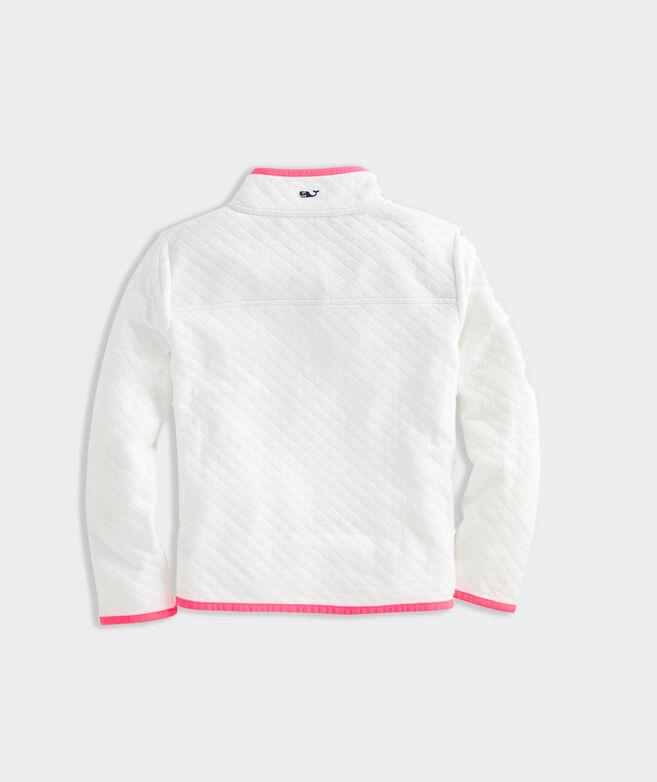 Girls' Diamond Quilted Snap Placket Shep Shirt