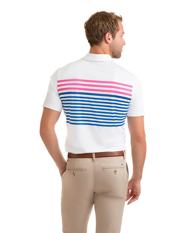 Knox Jersey Stripe Sankaty Performance Polo