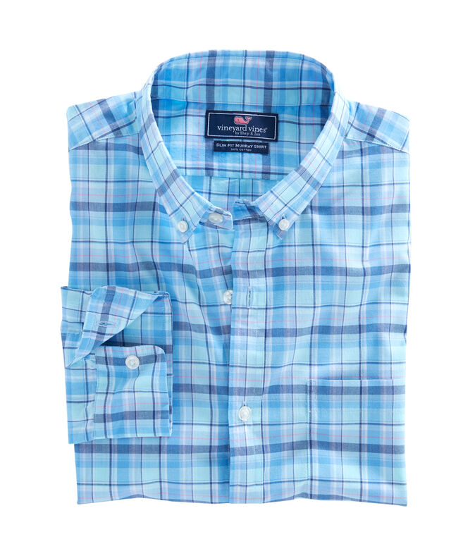 Pine Island Plaid Slim Murray Shirt