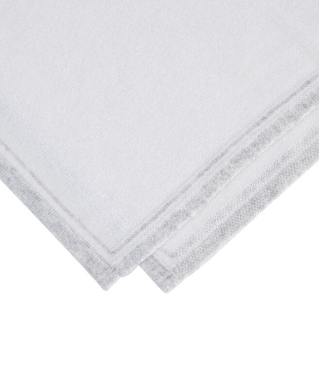 Striped Bottom Knit Poncho