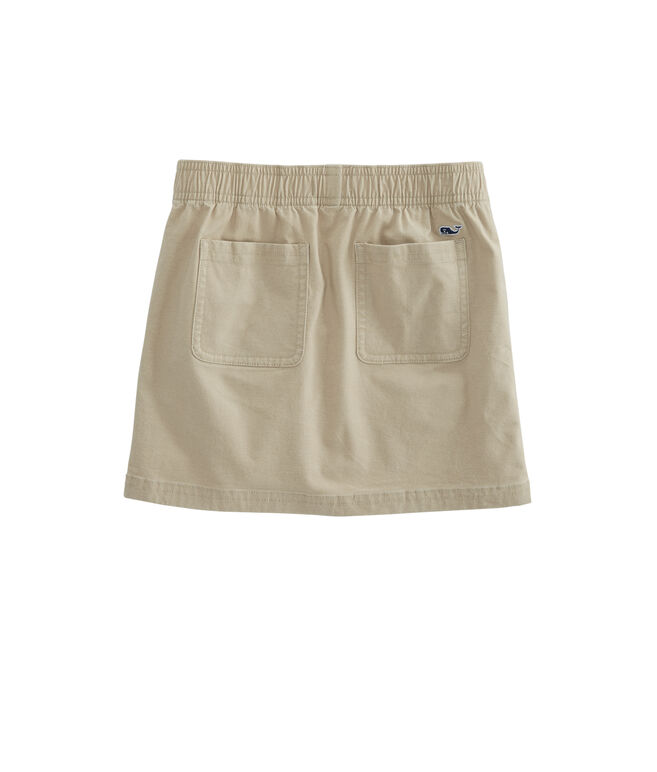 Girls Overdyed Garment Washed Twill Tape Skirt