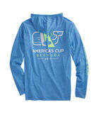 America's Cup Long-Sleeve Heathered Performance Hoodie T-Shirt