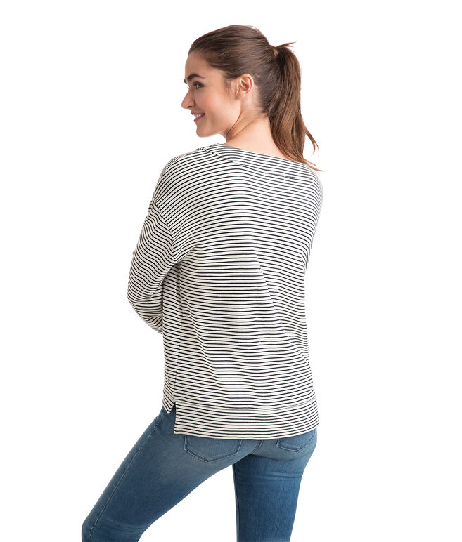 Bateau Lace Up Pullover