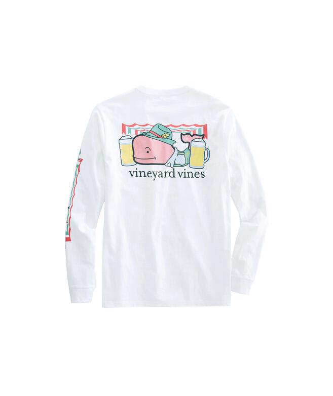 Big & Tall Oktoberfest Whale Long-Sleeve Pocket T-Shirt