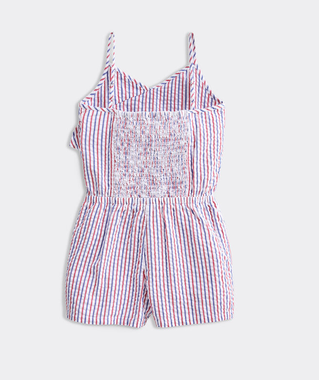 OUTLET Girls' Firework Seersucker Romper