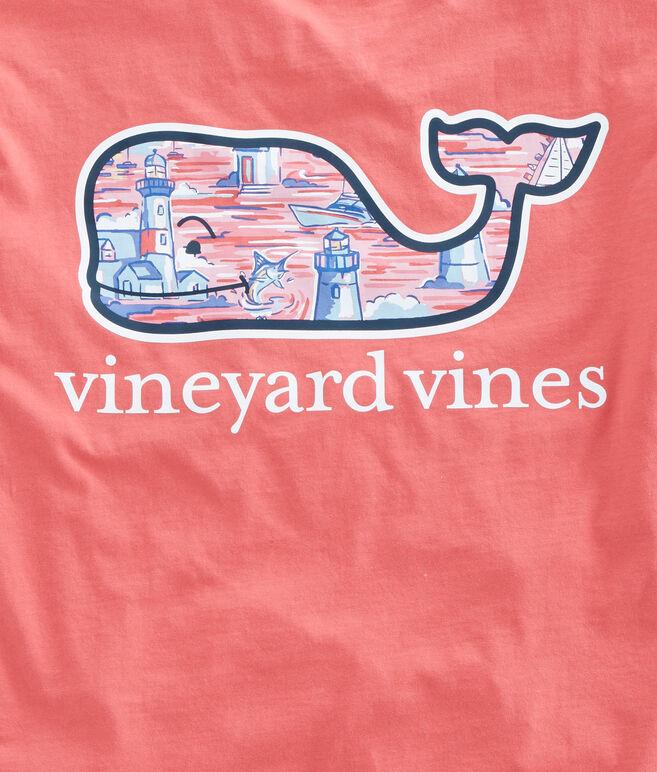 Lighthouse Whale Fill T-Shirt